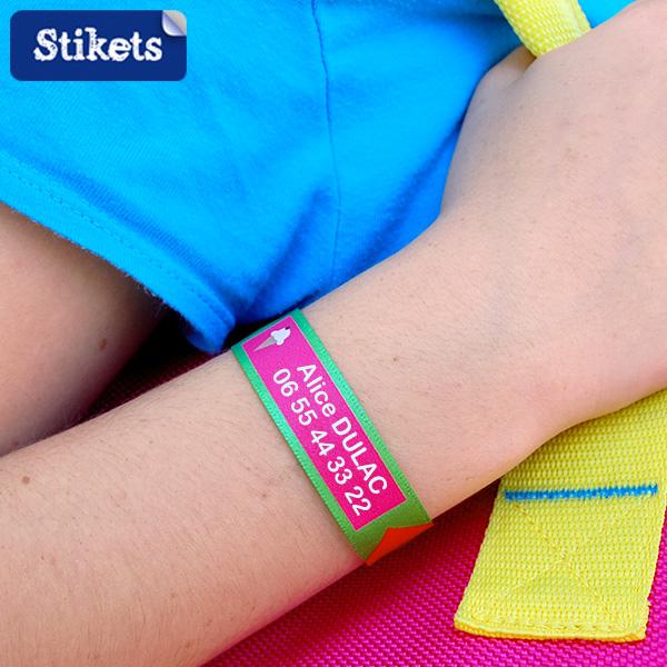 Bracelet identification enfants Stikets