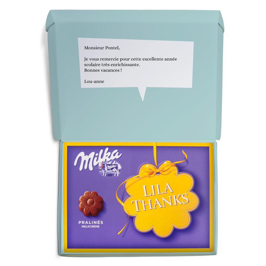 idee cadeau pour la maitresse - chocolat milka