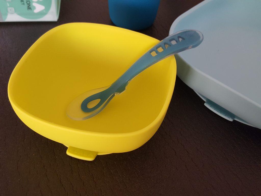 set repas silicone de beaba - repas bebe