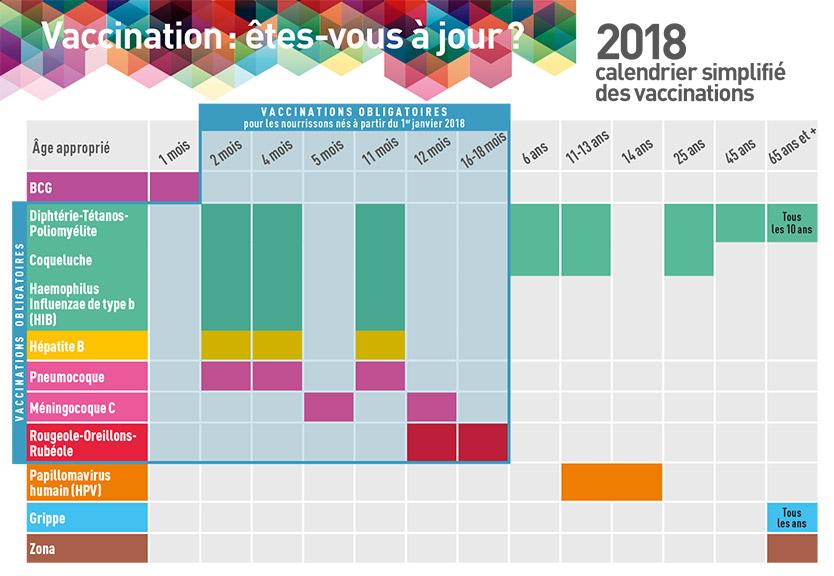 tout savoir sur la vaccination infantile - infos ou intox - calendrier de vaccination 2018