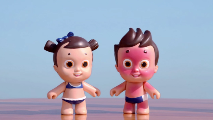 protéger les enfants du soleil nivéa dolls