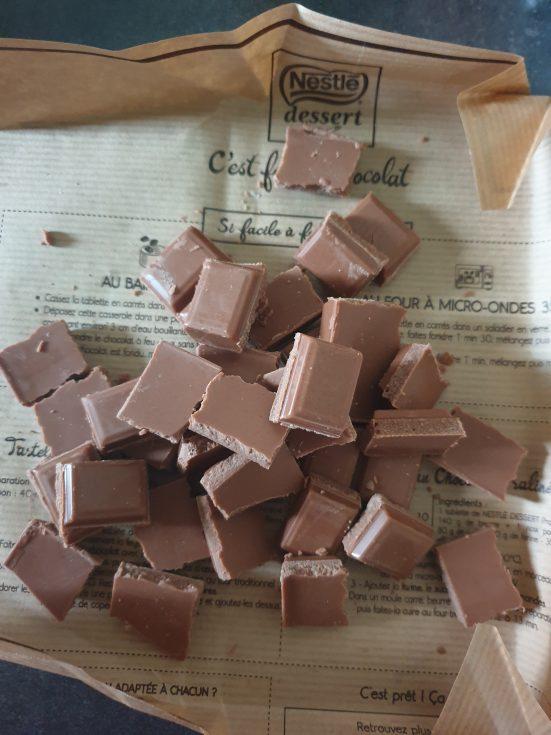gâteau au chocolat avec 4 ingrédients